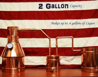 TDN – 2 Gallon Copper Moonshine Still – Complete + Upgraded Thumper and Worm